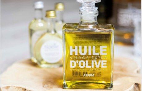 Een heerlijke olijfolie in parfumfles.